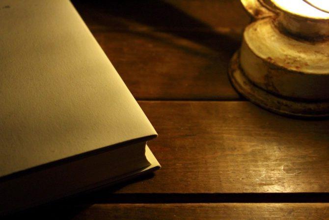 夜の読書画像